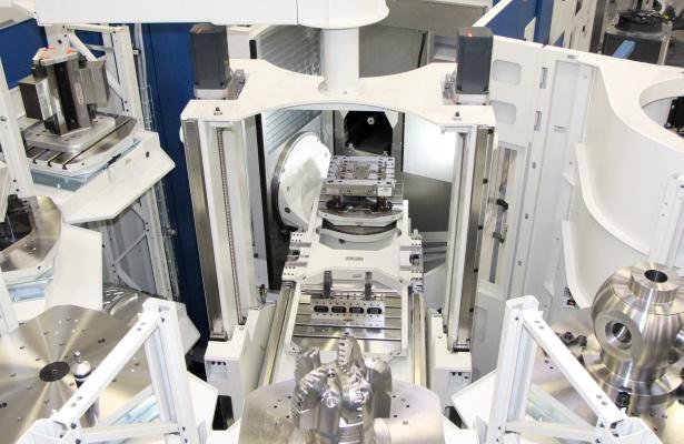 GROB rotary pallet storage system