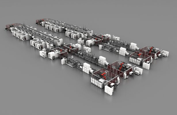 Flexible manufacturing line by GROB